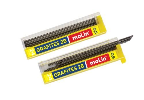 Grafites 0,5mm 2B Molin