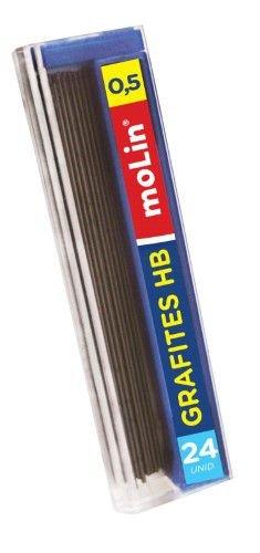 Grafites 0,5mm HB Molin