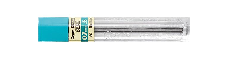 Grafites 0.7 MM 2B - Pentel - 2 Tubos com 12 unidades