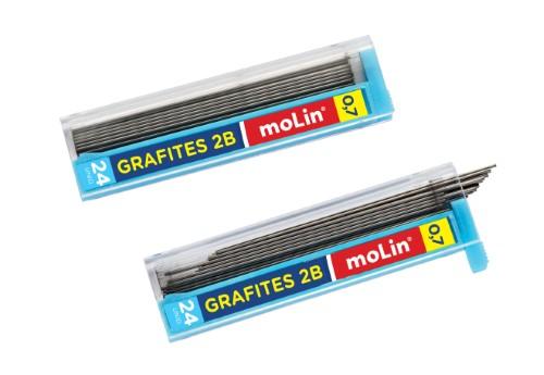 Grafites 0,7mm 2B Molin