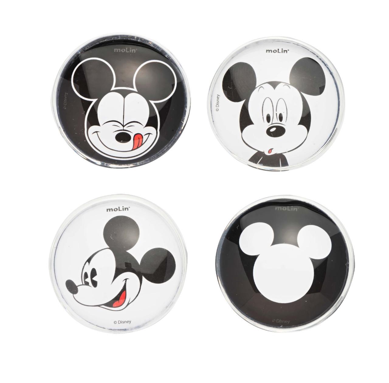 Imã Magnético - Molin - Mickey Mouse - Blister c/ 4 Imãs