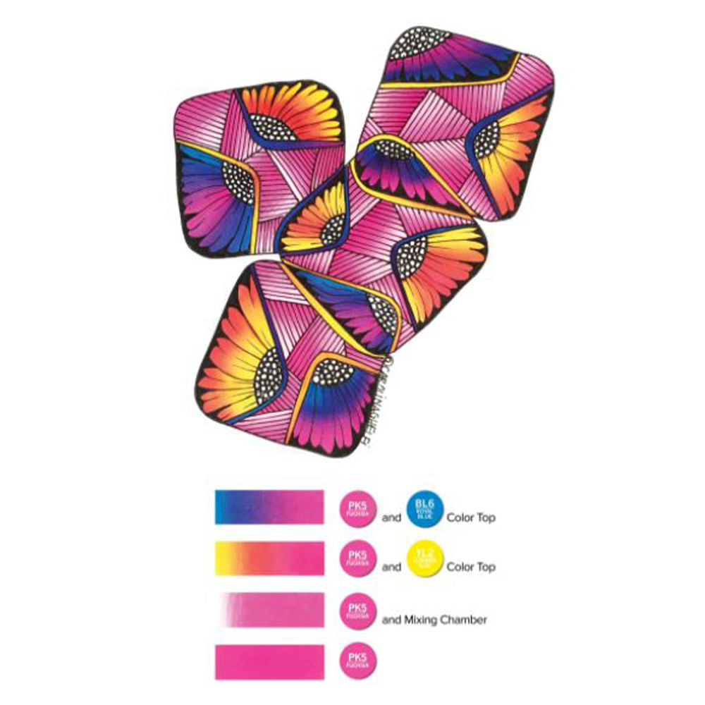 Kit 3 Canetas Chameleon + 2 Color Tops - CT1003