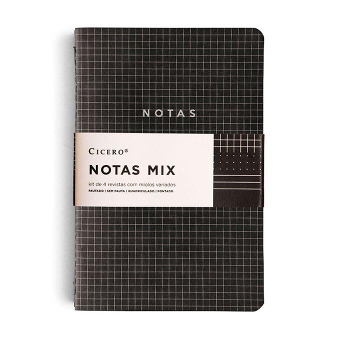 Kit de Revistas Preto Notas Mix 14X21 - Cícero
