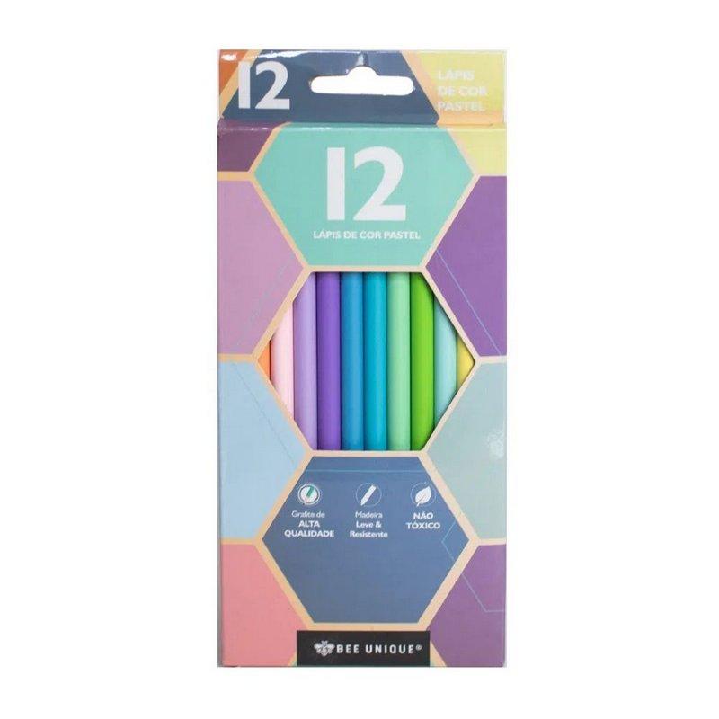 Lápis de Cor - Bee Unique - Tom Pastel 12 cores