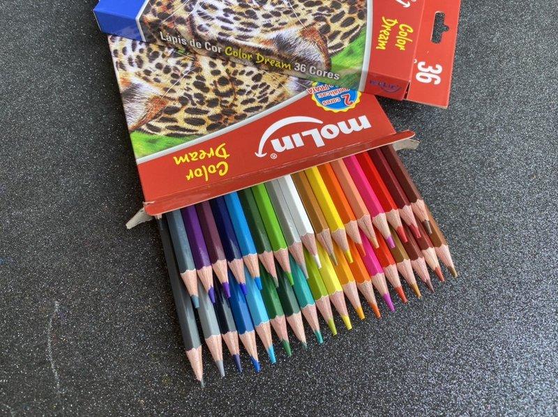 Lápis de cor - Color Dream 36 Cores - Molin