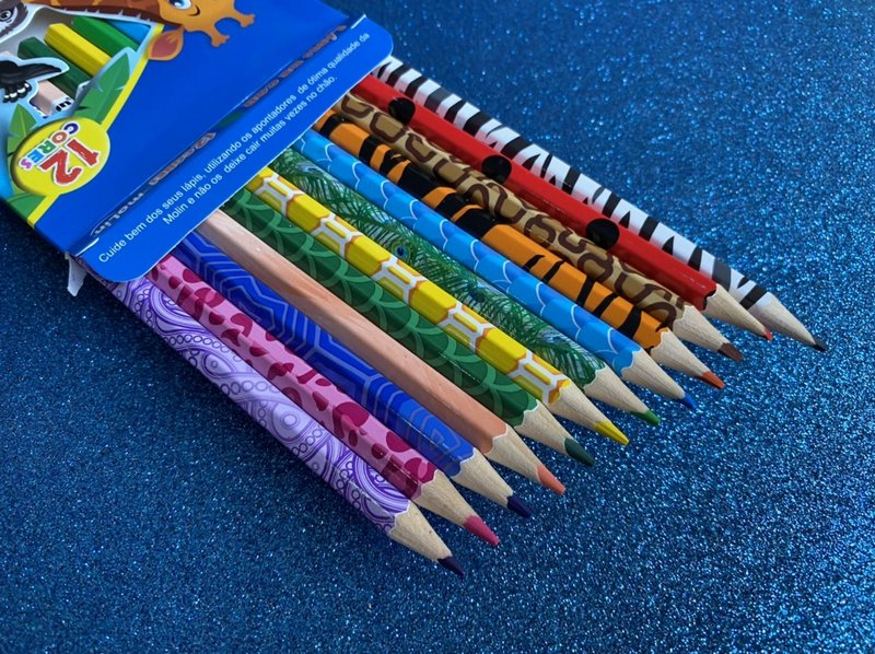 Lápis de Cor  - Molin - Animal Planet 12 cores