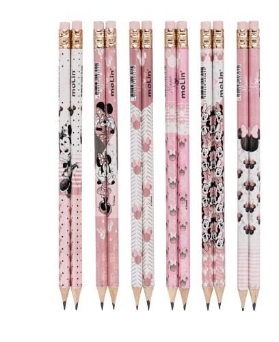 Lápis HB Minnie Estampas Sortidas - Molin