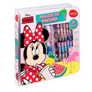 Maleta de Pintura Square Minnie Mouse 51 itens