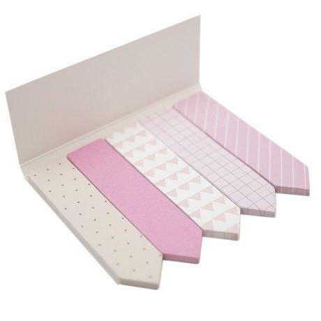 Marcador de Página Bee Unique - Coleção Bloom - Rosa e Branco