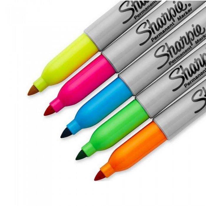 Marcador Permanente - Sharpie - Fine Point Estojo c/ 5 Cores Neon