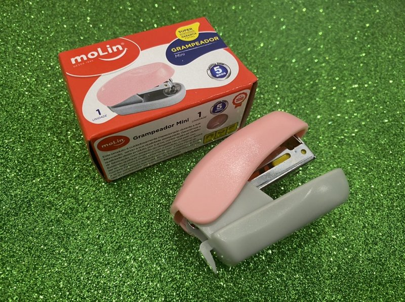 Mini Grampeador Rosa - Molin