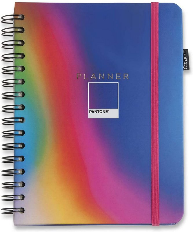 Planner Wire-o Pantone - Degrade Neon 14,8 x21 - Mensal e Semanal - Cícero