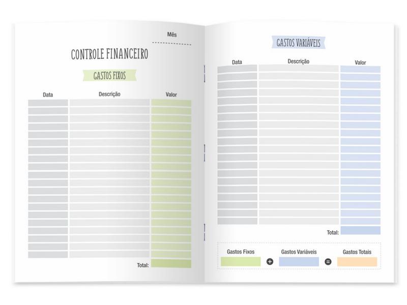 Pocket Planner Finanças - Cartões Gigantes