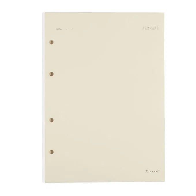 Refil Caderno Criativo Argolado 40FLS Polen 80g 17x24 - Sem Pauta