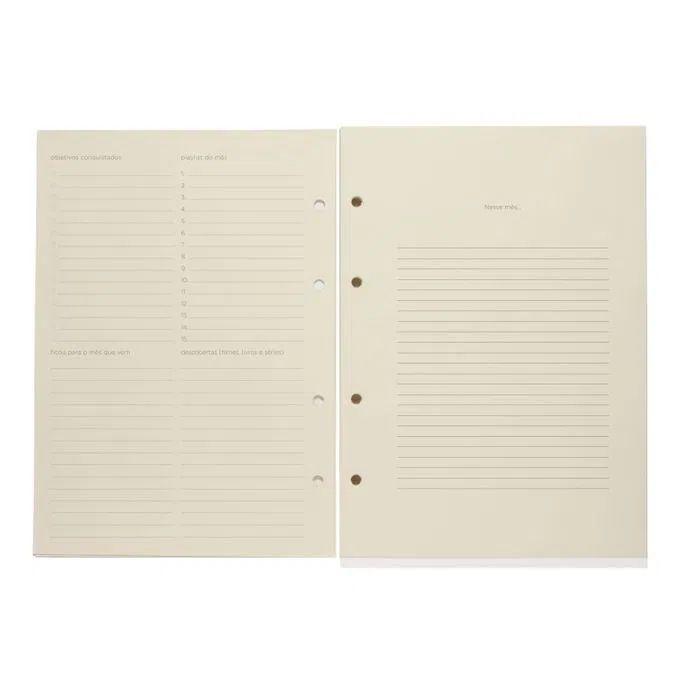 Refil Caderno Criativo Argolado 88FLS Polen 80g 17x24 - Planner
