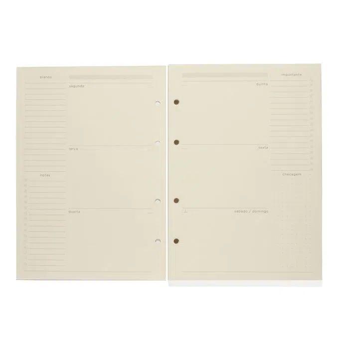 Refil Planner Caderno Criativo Argolado - Cícero -  88FLS Polen 80g 17x24