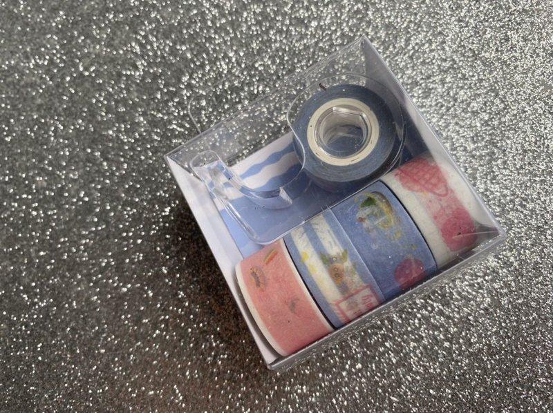 Washi Tape BRW mini kit com 5 rolos e dispenser