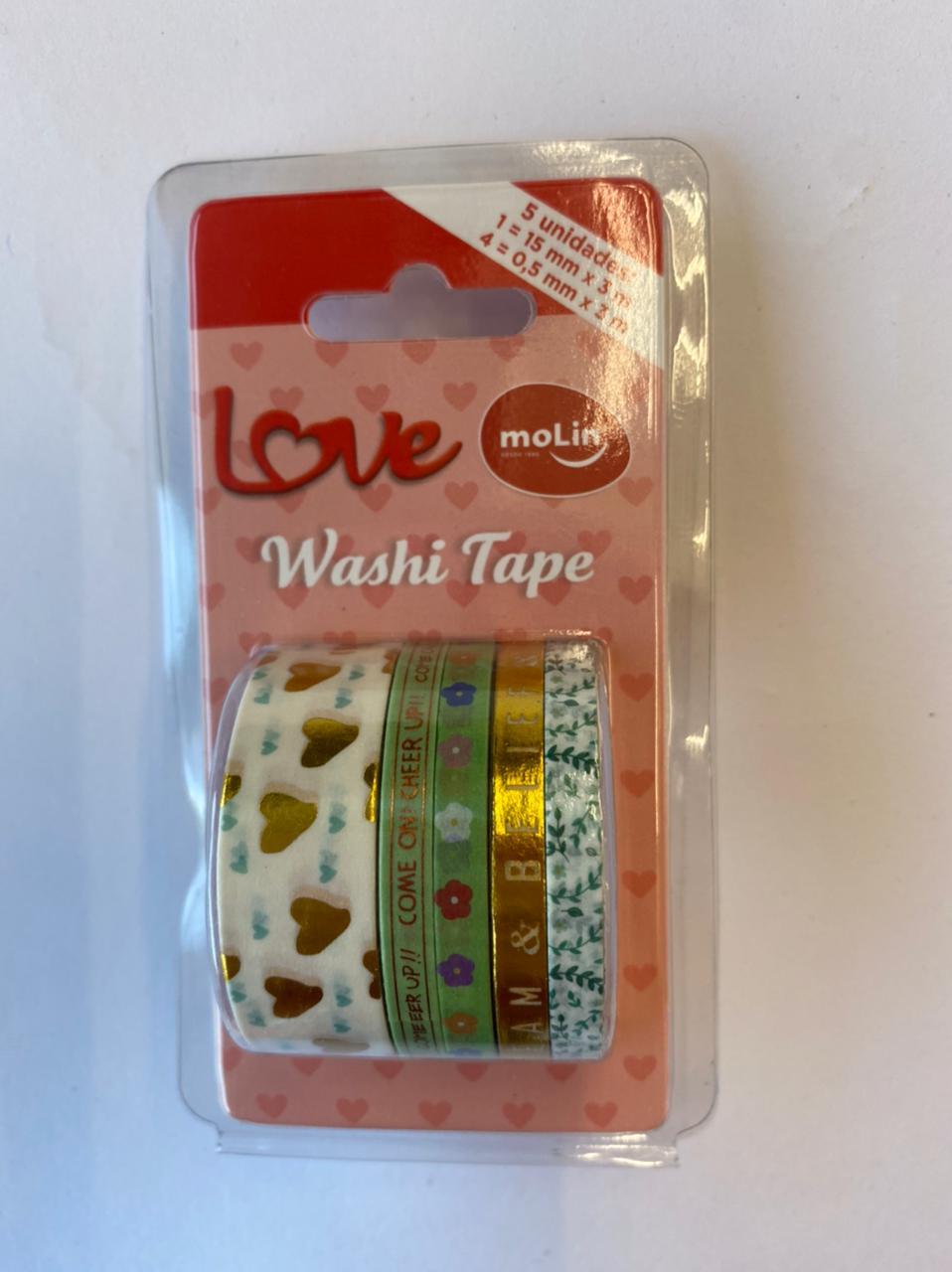 Washi Tape Slim - Molin Love - Verde