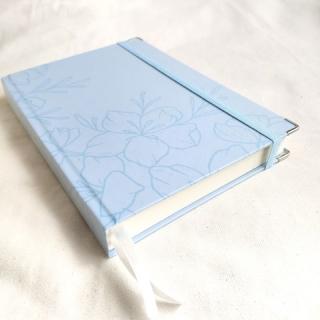 caderneta flora blue papel 120g/m²
