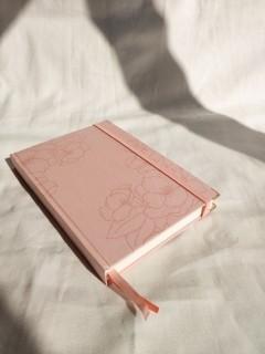 caderneta flora peach papel 120g/m²