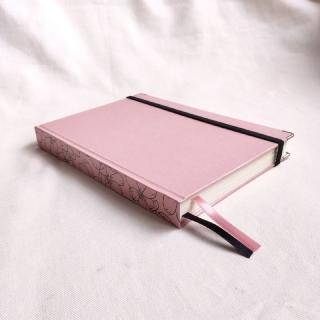 caderneta lombada florida rosa chá 90g/m²