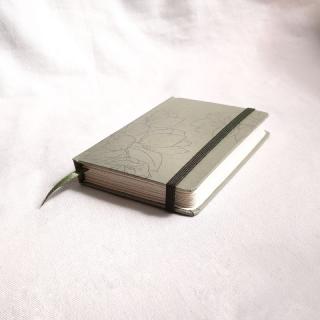 caderneta pocket flora green