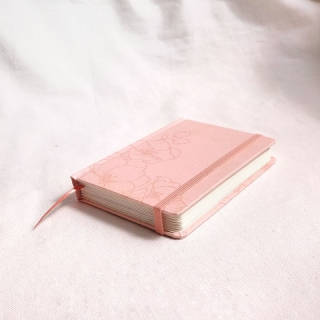 caderneta pocket flora peach