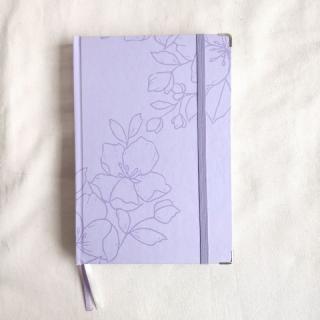 caderneta flora lilás 90g/m²