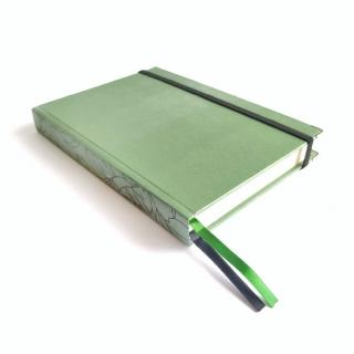 wabi sabi - caderneta lombada florida verde