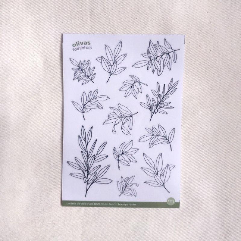 adesivos botânicos neutros - 12 modelos
