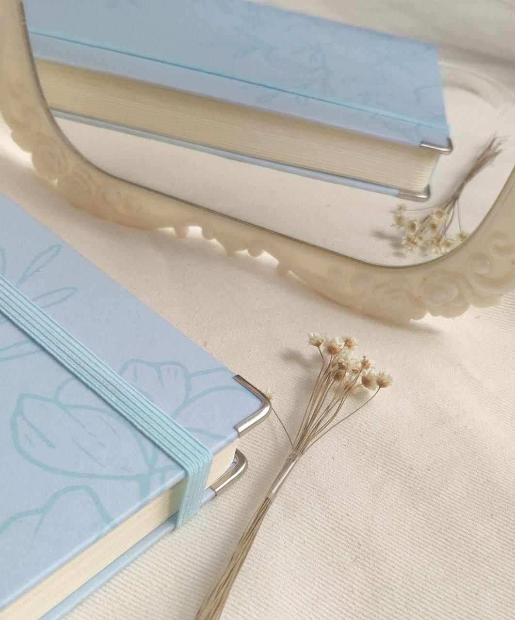 caderneta flora blue 90g/m²