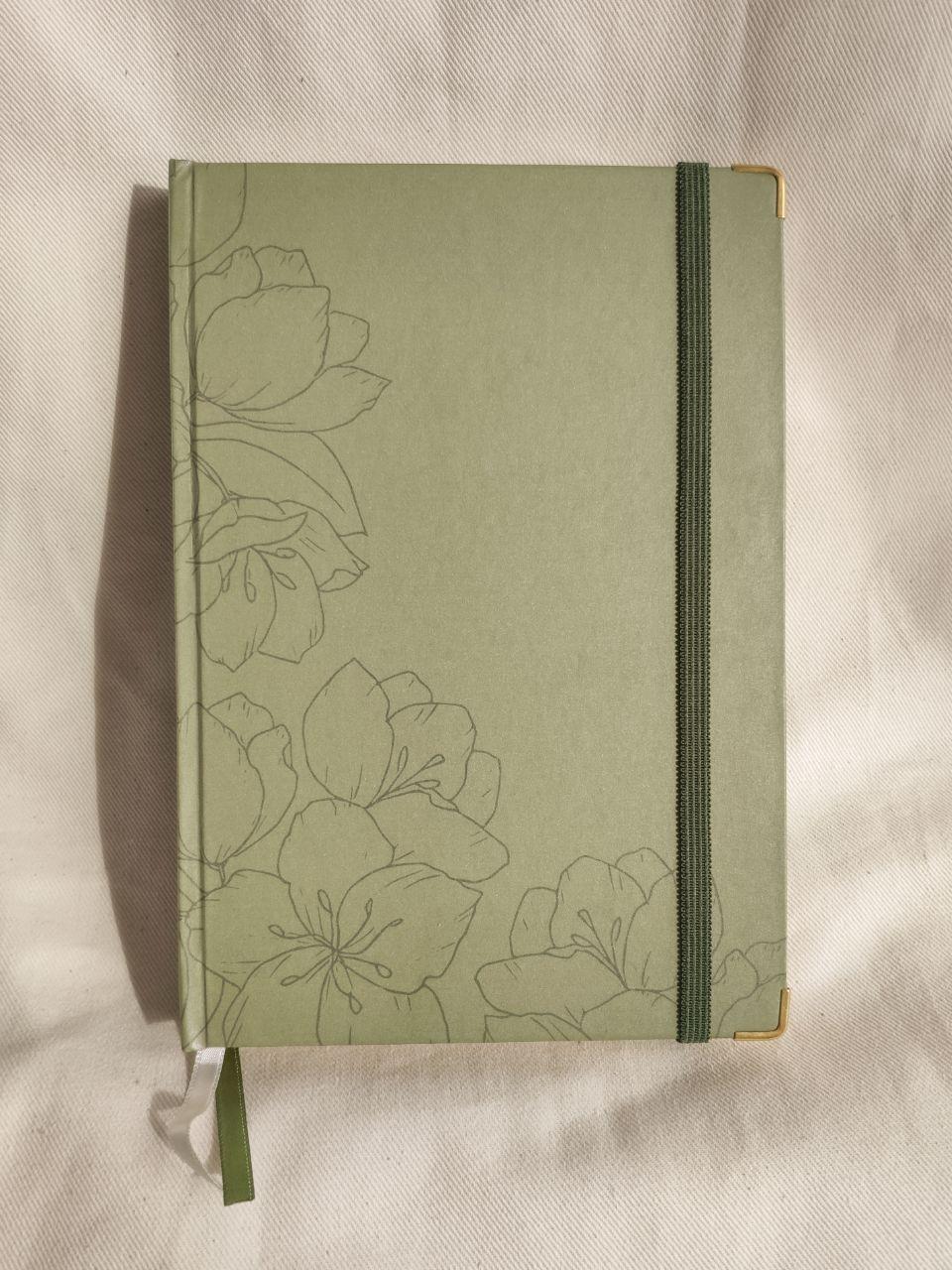 caderneta flora green papel 120g/m²