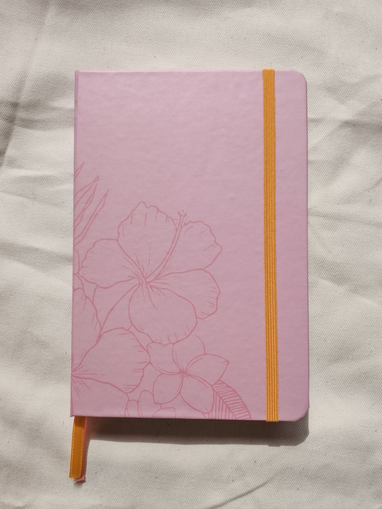 caderneta flores tropicais papel 120g/m²