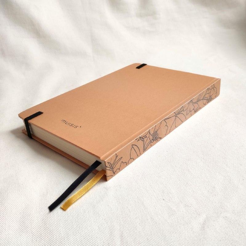 caderneta lombada florida caramelo 120 g/m²
