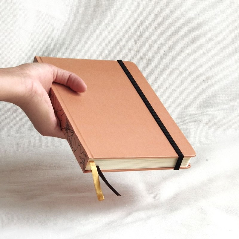 caderneta lombada florida caramelo 90g/m²
