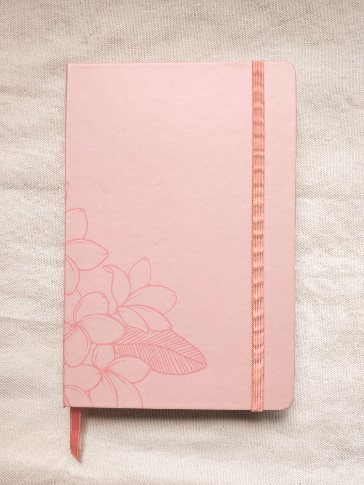 caderneta pluméria peach papel 120g/m²