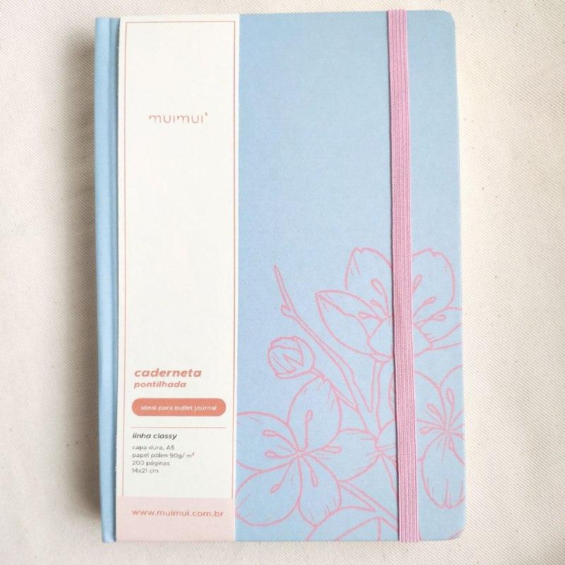 caderneta sakura 90g/m² pontilhado - wabi sabi