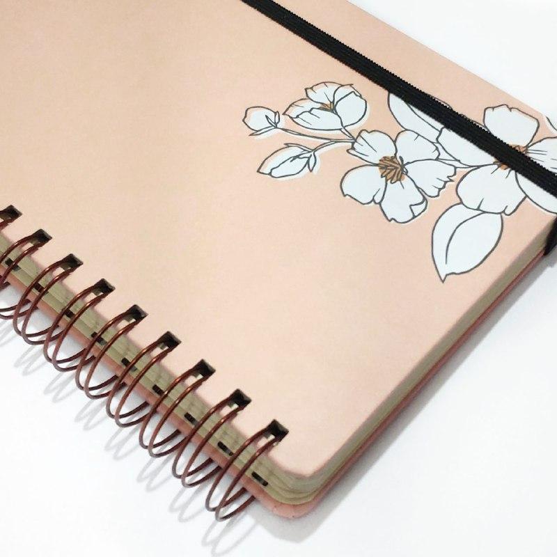 caderno wire-o toque botânico