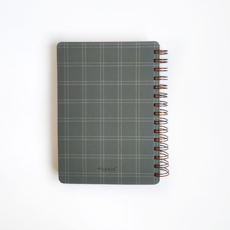 caderno wire-o xadrez minimalista