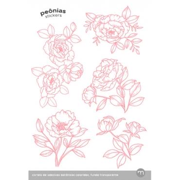 kit de cartelas botânicas coloridas