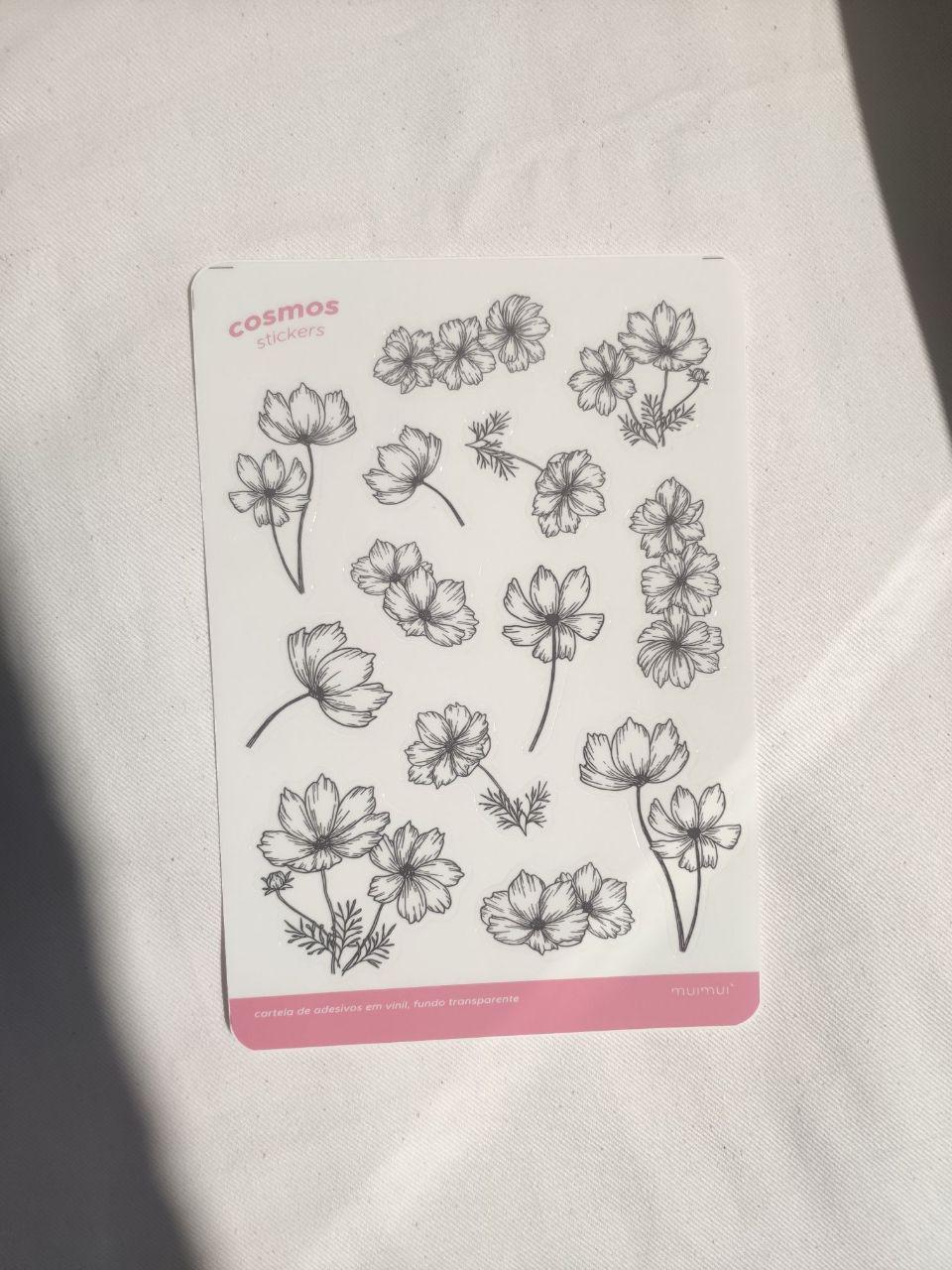 kit de adesivos florais
