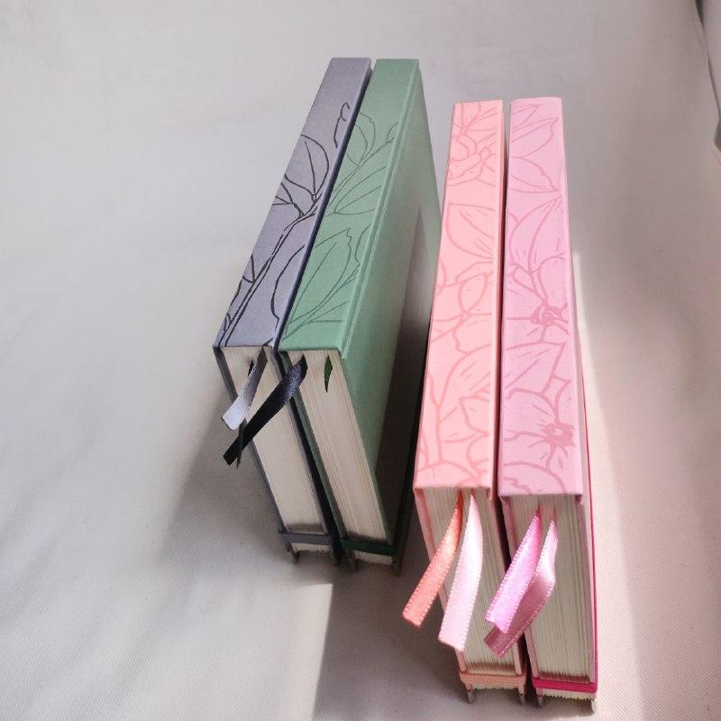 planner permanente lombada florida rosa