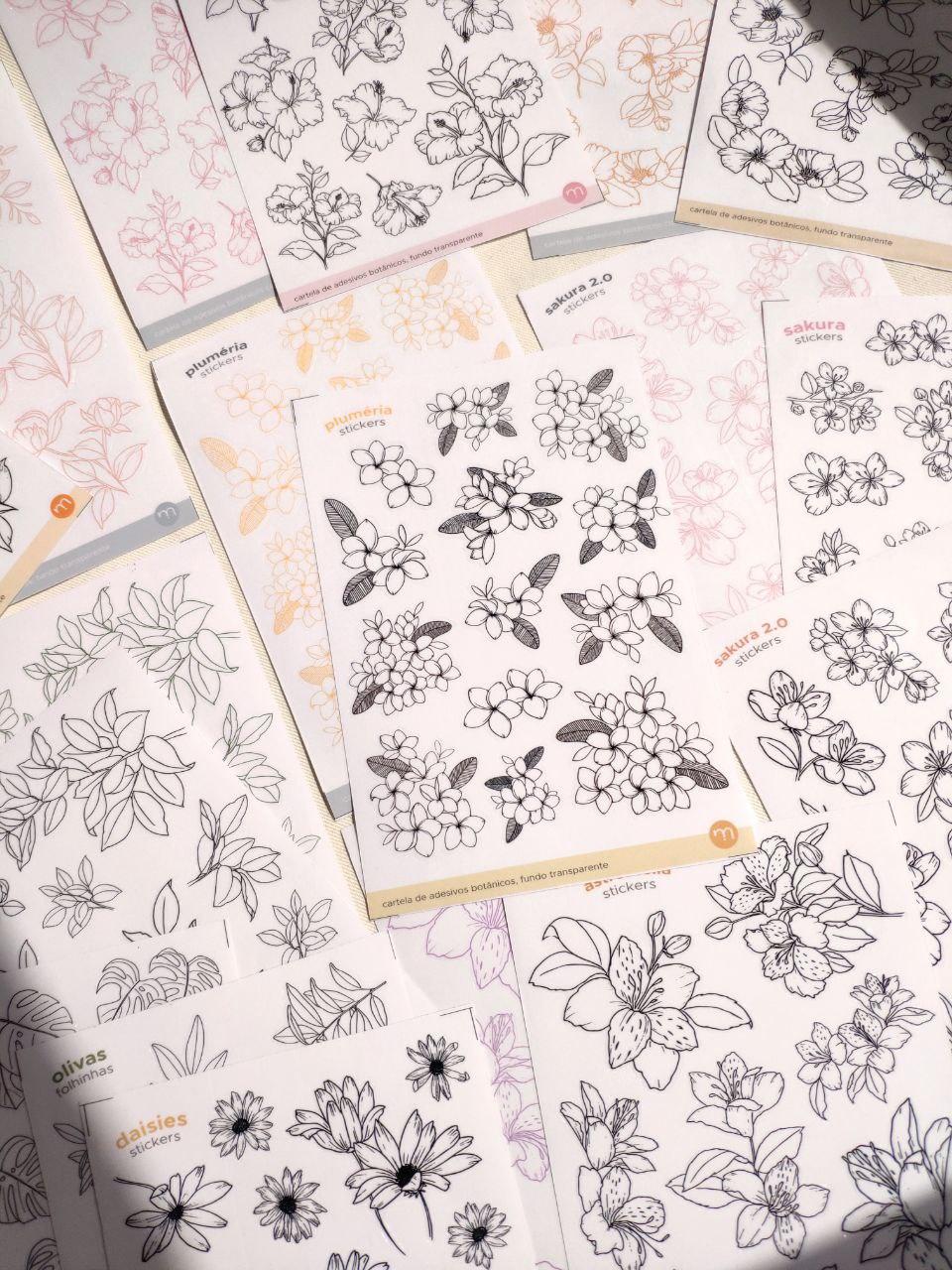 *super kit de cartelas botânicas