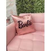 Almofada Cetim Rose Barbie CAPA