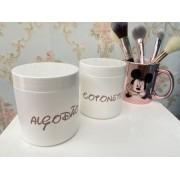 Porta Algodão e Cotonete Rose Disney -2 unid