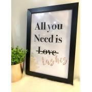 Quadro All you need is Lashes