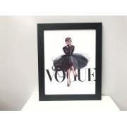 Quadro Vogue Vestido Preto