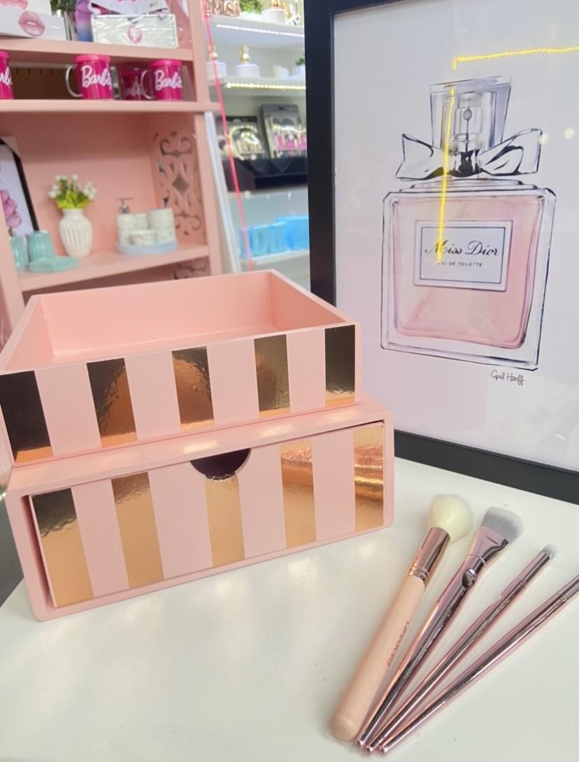 Kit 2 peças Makeup RoseGold
