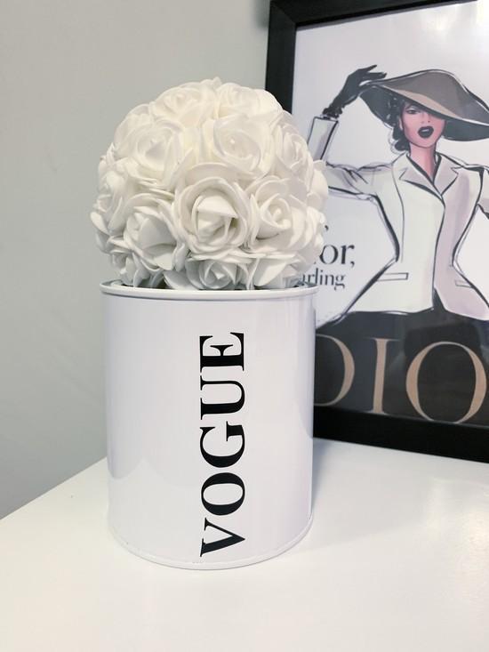 Lata Porta Treco Branca Vogue