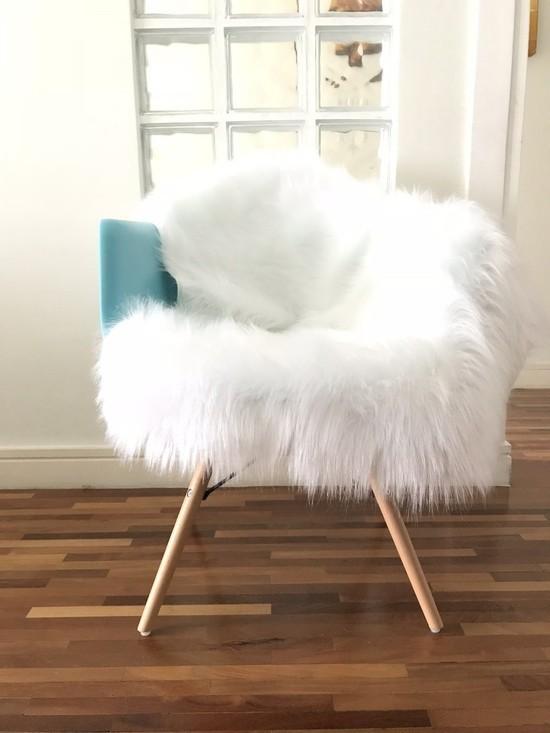 Pelúcia para cadeira Branca